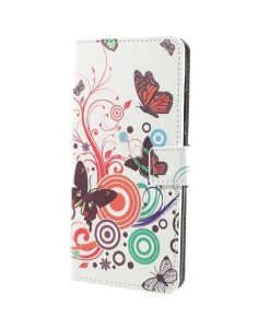 Huawei Honor 8 Pro Pattern Printing Wallet Case, Circle Butterfly