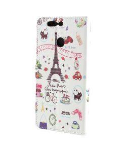 Huawei Honor 8 Pro Pattern Printing Wallet Case, Eiffel Tower.