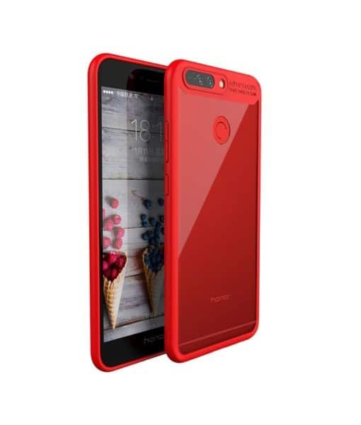 Huawei Honor 8 Pro IPAKY TPU Frame + Clear Acrylic, Punainen.