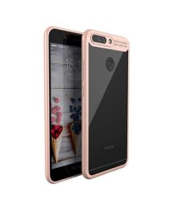 Huawei Honor 8 Pro IPAKY TPU Frame + Clear Acrylic, Pink.
