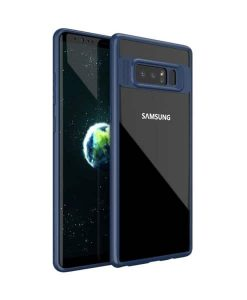 Samsung Galaxy Note 8 IPAKY TPU Frame + Clear Acrylic, Blue.