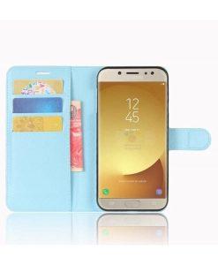 Samsung Galaxy J7 (2017) Wallet Leather Case, Sininen.