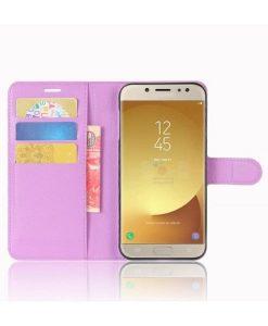 Samsung Galaxy J7 (2017) Wallet Leather Case, Lila.