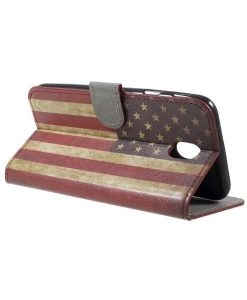Samsung Galaxy J7 (2017) Printing Wallet Case, US Flag.