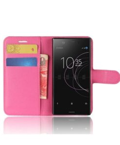 Sony Xperia XZ1 Compact Wallet Leather Case, Rose.