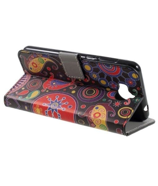 Huawei Y6 (2017) Pattern Printing Wallet Case, Paisley.