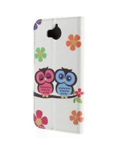 Huawei Y6 (2017) Pattern Printing Wallet Case, Owl 2.
