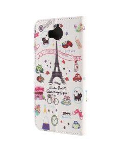Huawei Y6 (2017) Pattern Printing Wallet Case, Eiffel.
