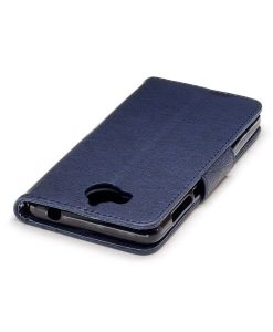 Huawei Y6 (2017) Bear Magnetic Wallet Case, Baby Blue.