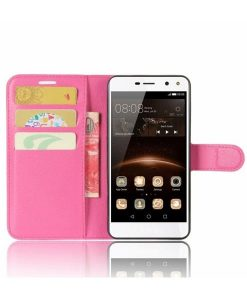 Huawei Y6 (2017) Wallet Leather Case, Rose.