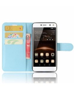 Huawei Y6 (2017) Wallet Leather Case, Sininen.