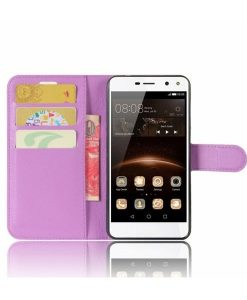 Huawei Y6 (2017) Wallet Leather Case, Lila.