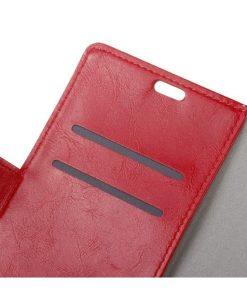 Nokia 8 Crazy Horse Suojakotelo, Punainen.