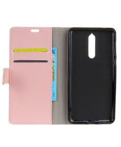 Nokia 8 Crazy Horse Suojakotelo, Pink.
