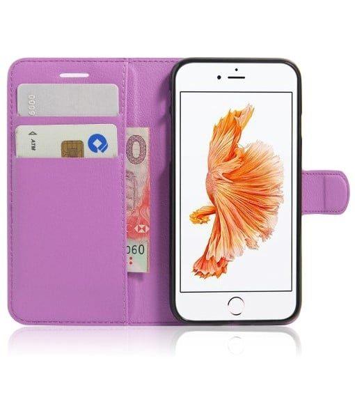 Apple iPhone 8 Book Style Suojakotelo, Lila.