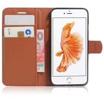 Apple iPhone 8 Book Style Suojakotelo, Ruskea.