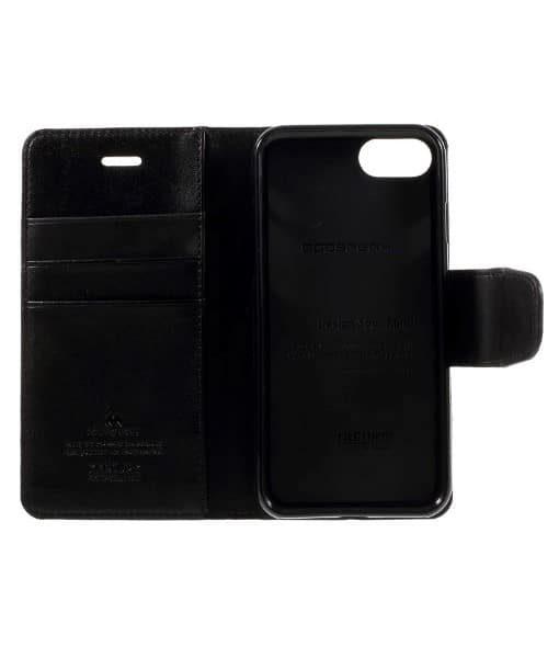 Apple iPhone 8 Mercury Sonata Suojakotelo, Musta.