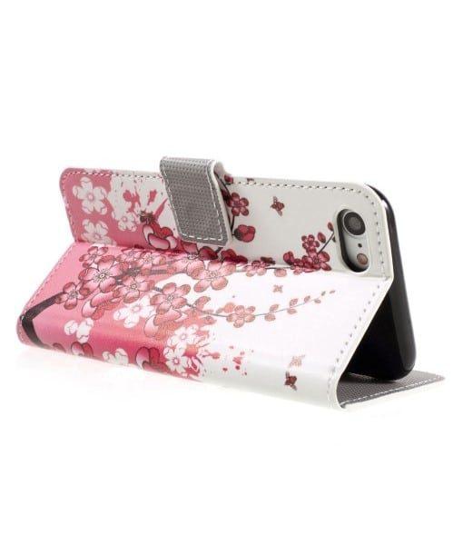 Apple iPhone 8 Lompakkokotelo, Pink Plum.