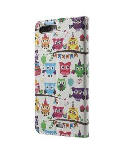 Apple iPhone 8 Plus WalletCase Suojakotelo, Multiple Owls.