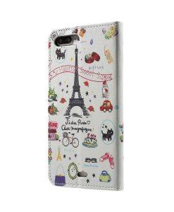 Apple iPhone 8 Plus WalletCase Suojakotelo, Eiffel Tower.