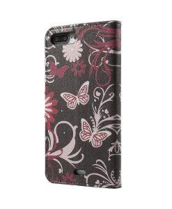 Apple iPhone 8 Plus WalletCase Suojakotelo, Flower Butterfly.