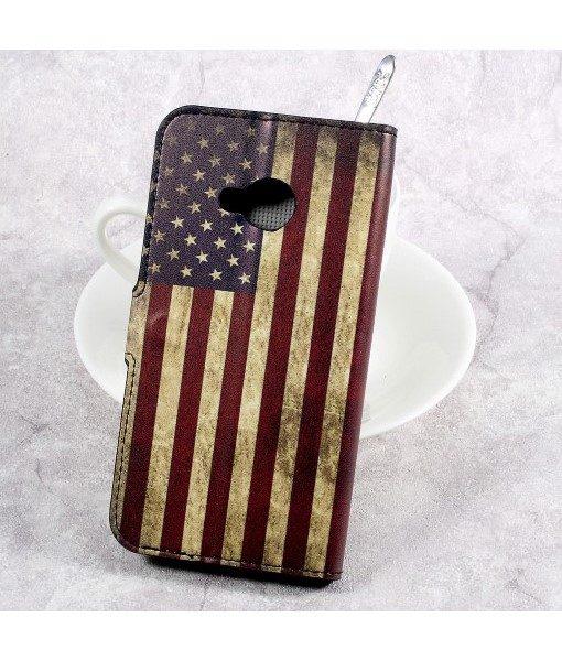 HTC U Play Printing Wallet Case, US Flag.