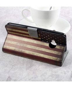 HTC U Play Printing Wallet Case, US Flag.
