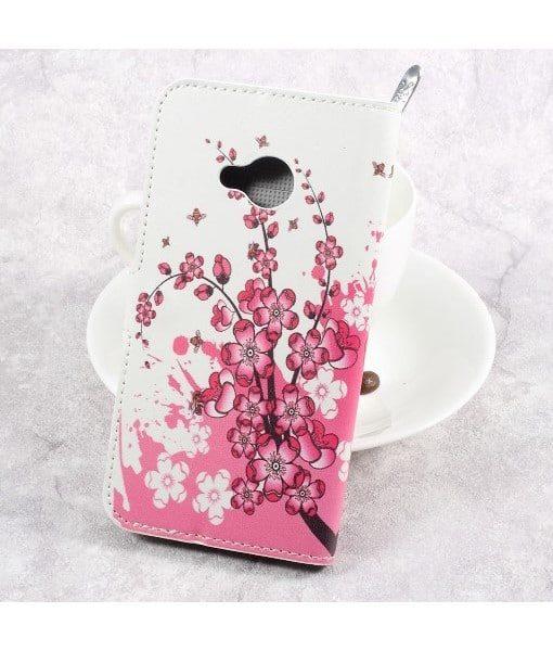 HTC U Play Printing Wallet Case, Pink Plum.