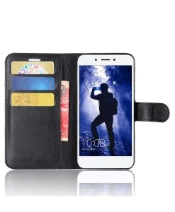 Huawei Honor 6A Wallet Leather Case, Musta.