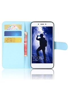 Huawei Honor 6A Wallet Leather Case, Sininen.