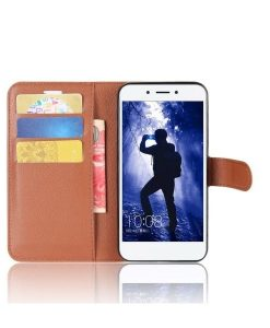 Huawei Honor 6A Wallet Leather Case, Ruskea.