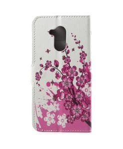 Huawei Honor 6A Printing Wallet Case, Pink Plum.