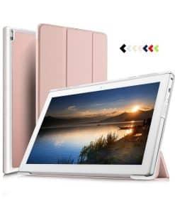 Lenovo Tab4 10 Plus Tri-fold Case, Rose Gold.