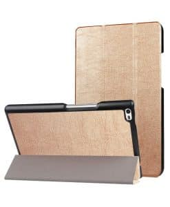 Lenovo Tab4 8 Plus Tri-fold Case, Gold.