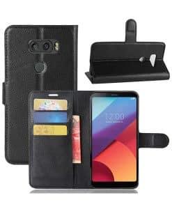 LG V30 Wallet Leather Case