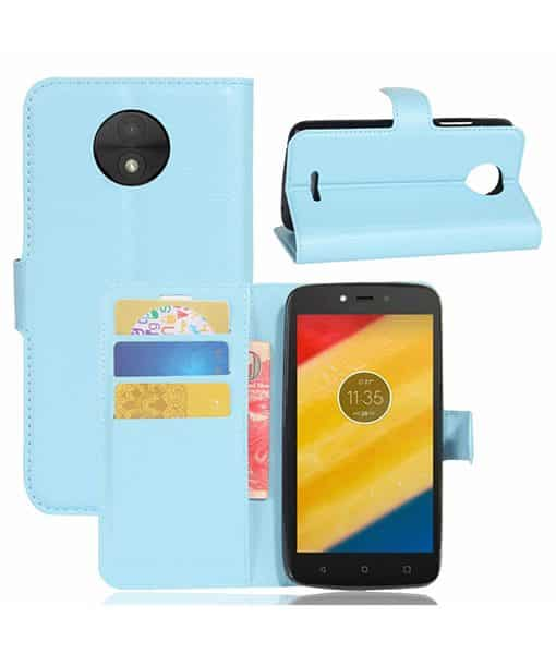 Lenovo Moto C Plus Wallet Leather Case