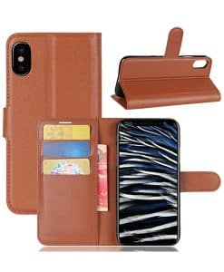 Apple iPhone Xs Wallet Leather Case