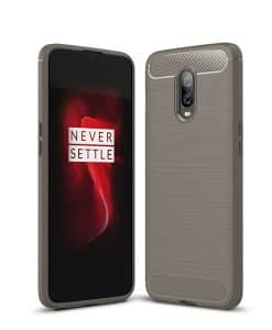OnePlus 6T Carbon Fiber Silikonisuoja