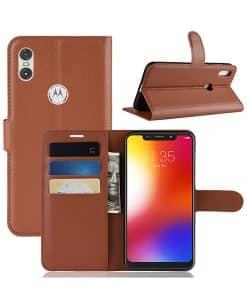 Motorola One Wallet Leather Case