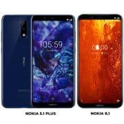 Nokia 8.1 ja Nokia 5.1 Plus