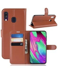 Samsung Galaxy A40 Wallet Leather Case