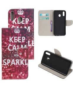 Samsung Galaxy A40 Kuviollinen Wallet Case