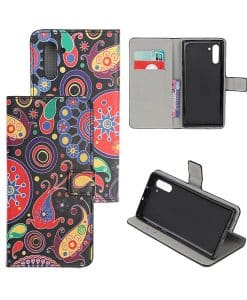 Samsung Galaxy Note 10 Kuviollinen Wallet Case