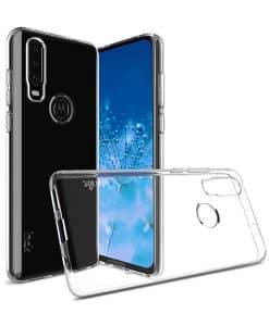 Motorola One Action IMAK Silikoni Suojakuori
