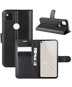 Google Pixel 4a Wallet Leather Case