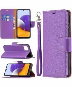 Samsung Galaxy A22 5G Wallet Leather Case